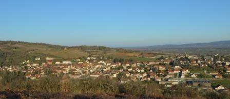 Vue de Saint Gengoux le National de la madone